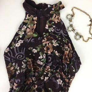 Carolina Belle | High Neck Keyhole Cutout Dress